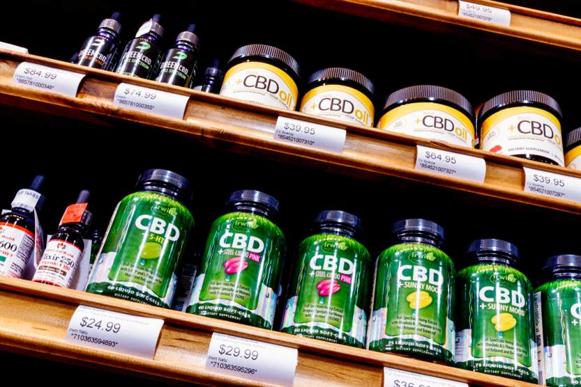 The History of CBD - Products in high street shop